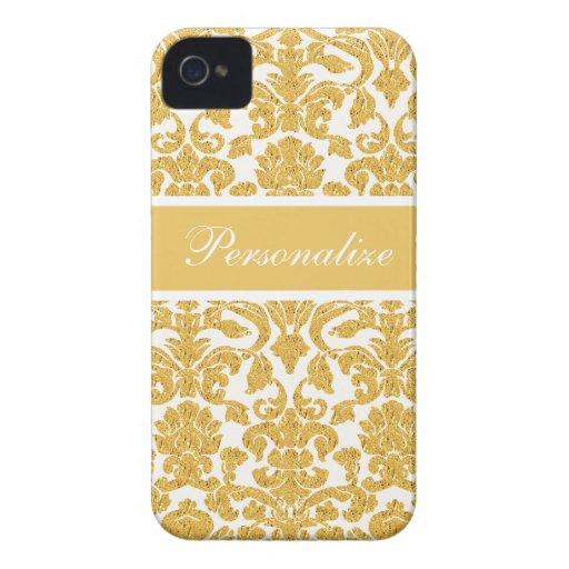Elegant Vintage Damask Pattern Personalized Case-Mate iPhone 4 Case
