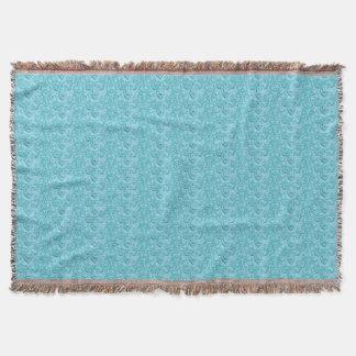 Elegant Vintage Delights-Soft Blue Throw Blanket