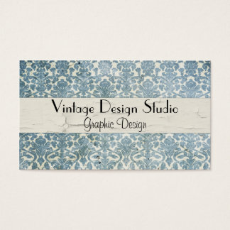 Elegant Vintage Distressed Teal Profile Card