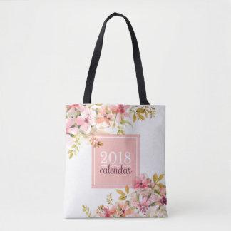 Elegant Vintage Floral 2018 Calendar | Tote Bag