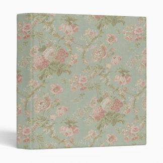 Elegant VIntage Floral Cottage Rose Binder