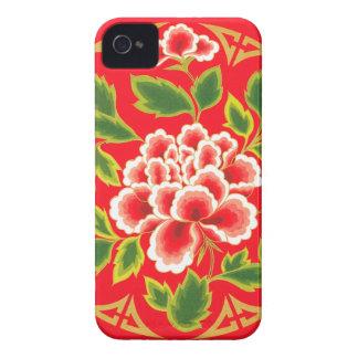 Elegant Vintage Floral Decorative Design iPhone 4 Covers