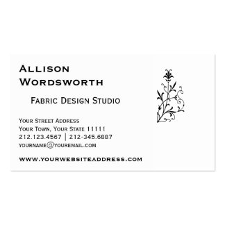 Elegant Vintage Floral Decorative Motif Pack Of Standard Business Cards
