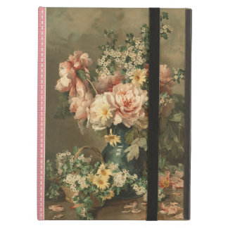 Elegant Vintage Floral Pink Rose iPad Air Case