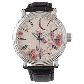 Elegant Vintage Floral Rose Watch
