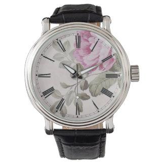 Elegant Vintage Floral Rose Wrist Watches