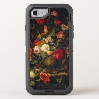Elegant Vintage Floral Vase OtterBox Defender iPhone 7 Case