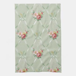 Elegant Vintage Floral Wallpaper Kitchen Towel