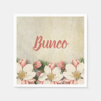 Elegant Vintage Flower Bunco Party Napkin