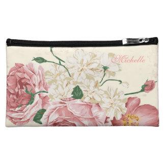 Elegant Vintage Flowers Makeup Bag