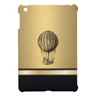 Elegant 'vintage flying balloon gold monogram cover for the iPad mini