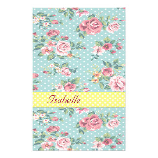Elegant  vintage gentle floral customized stationery