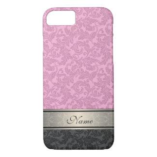 Elegant vintage girly  trendy damask personalized iPhone 7 case