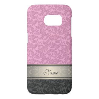 Elegant vintage girly  trendy damask personalized samsung galaxy s7 case