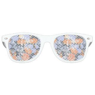 Elegant vintage grey violet orange floral pattern retro sunglasses