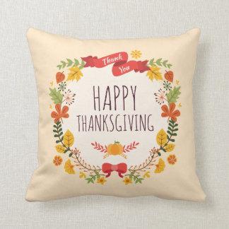 Elegant Vintage Happy Thanksgiving | Throw Pillow