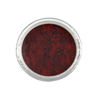 Elegant Vintage Lace Wallpaper Photo Rings