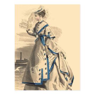 Elegant Vintage Lady Postcard