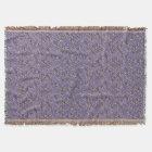 Elegant Vintage Lavender Damask Throw Blanket