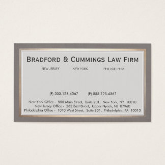 Elegant Vintage Law Firm Attorney Business Card
