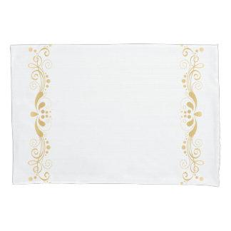 Elegant Vintage Light Gold Lace Design Pillowcase