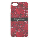 Elegant Vintage Oriental Red Floral Personalized iPhone 8/7 Case