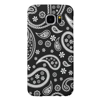 Elegant Vintage Paisley Black and White Pattern Samsung Galaxy S6 Cases
