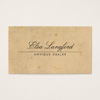 ELEGANT VINTAGE PAPER Business Card