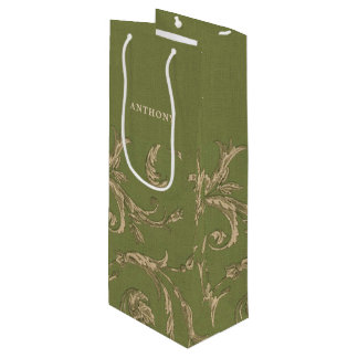 Elegant Vintage Pattern Wedding Favor Wine Bags
