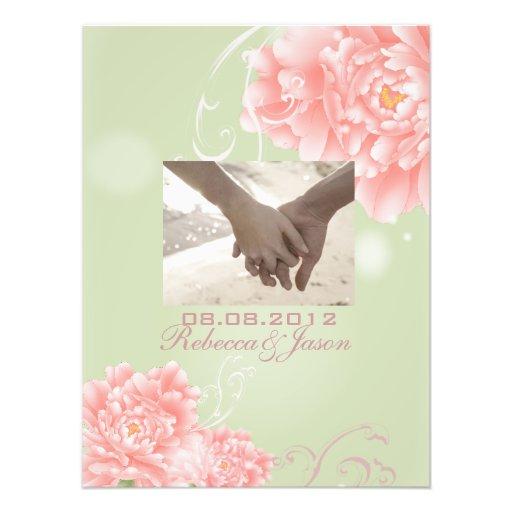 elegant vintage Peonies floral spring wedding Photograph
