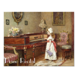 Elegant Vintage Piano Recital Invitations