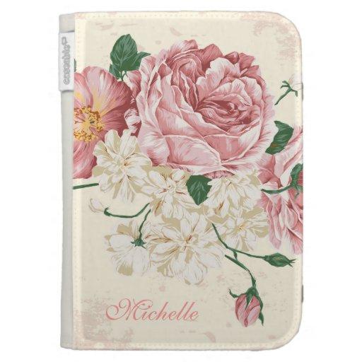 Elegant Vintage Pink Floral Pattern Case For The Kindle