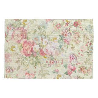 elegant vintage pink pastel floral pattern pillowcase
