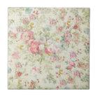 Elegant vintage pink pastel floral pattern tile