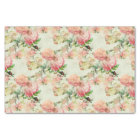 Elegant Vintage Pretty Pink Floral Roses Pattern Tissue Paper