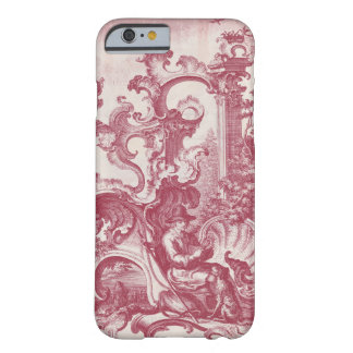 Elegant Vintage Red French Toile Man and Dog Barely There iPhone 6 Case