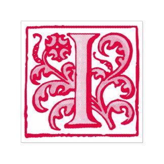 Elegant Vintage Renaissance Red Letter I Self-inking Stamp