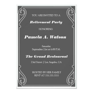 "Elegant Vintage Retirement Party 5"" X 7"" Invitation Card"