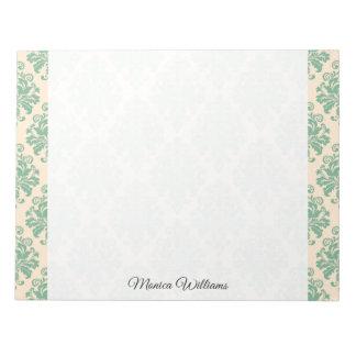 Elegant Vintage Retro Damask Pattern Notepad