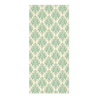 Elegant Vintage Retro Damask Pattern Rack Card
