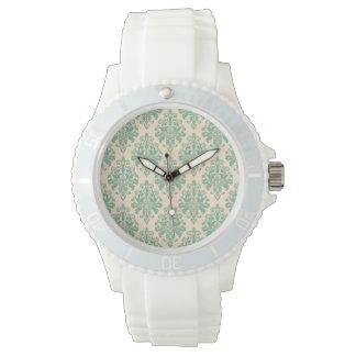 Elegant Vintage Retro Damask Pattern Watch