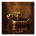 elegant vintage  rings leather wedding anniversary photo print