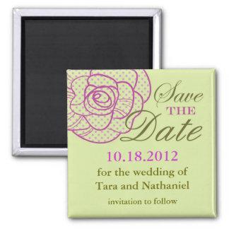 Elegant Vintage Rose Save the Date Magnet
