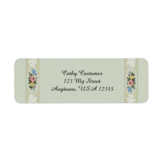 Elegant Vintage Roses Return Address Label