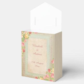 Elegant Vintage Roses Wedding Favor Box