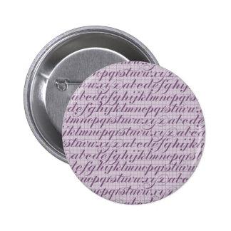 Elegant Vintage Script Typography Lettering Purple Pins