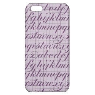 Elegant Vintage Script Typography Lettering Purple Case For iPhone 5C
