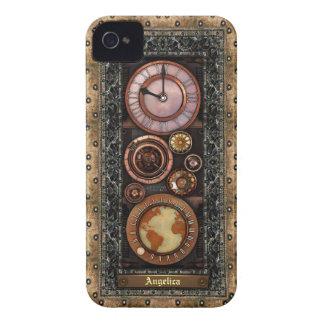 Elegant Vintage Steampunk Timepiece iPhone 4 Case