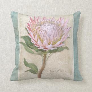 Elegant Vintage Style Modern Floral Chic Protea Throw Pillow