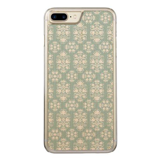 Elegant Vintage Victorian Lace Damask Carved iPhone 7 Plus Case